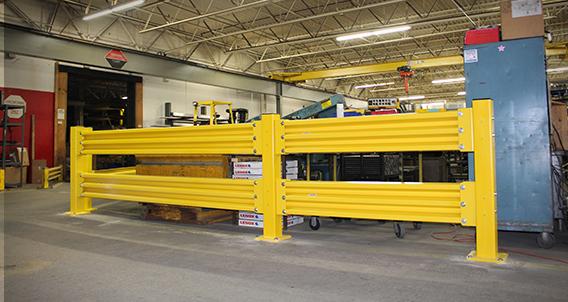 Guardrite steel warehouse guard rails rite hite