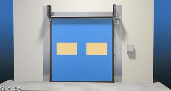 Fastrax Clean Room Door Animation